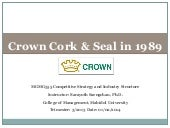 Crown Cork & Seal in 1989