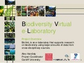 Biodiversity Virtual e-Laboratory (...