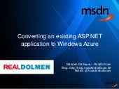 MSDN - Converting an existing ASP.N...