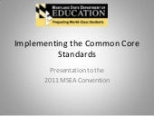 MSDE Presentation: Implementing the...