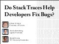 Do Stack Traces Help Developers Fix Bugs?