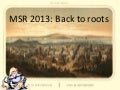 MSR 2013 Announcement