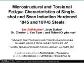 Microstructural and Torsional Fatigue Characteristics of Singleshot and Scan Induction Hardened 1045 and 10V45 Steels