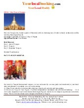 3 days tour of Yangon