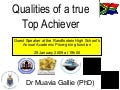 Randfontein HS 2009 Qualities of Top Achievers