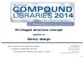 Mercachem on privileged structure concept applied to library design