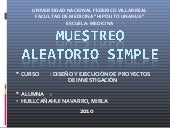 Muestreo aleatorio simple