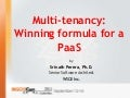 Multi-tenancy: Winning formula for a PaaS