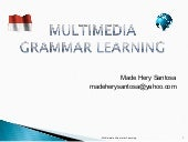 Multimedia Grammar Learning