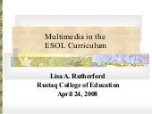 Multimedia In The Esol Curriculum (...