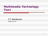 Multimedia Technology - text
