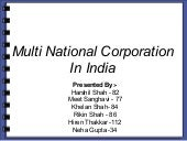 Multi National Companies