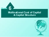 Multinational cost and capital stru...