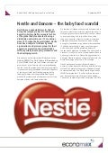 Nestle and Danone – the baby food scandal