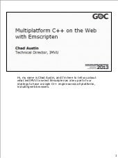 Multiplatform C++ on the Web with E...