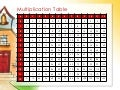 Multiplication Table (Through 12 X 12)