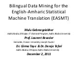 Bilingual Data Mining for the Engli...