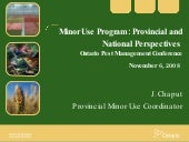 Minor Use Program: Provincial and N...