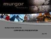 Murgor Resources, Inc. video
