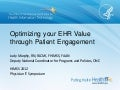Optimizing your EHR Value through Patient Engagement