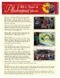 Year of Alabama Music brochure