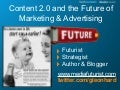 Creating value with Content: the Future Of Marketing & Advertising, by Gerd Leonhard Sydney 8-18-2009