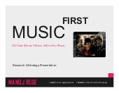 Music First - Strategy presentation for a Music Video App (India)