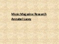 Music magazine annabel lucey