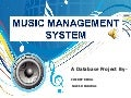 Music management system