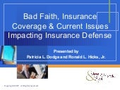 Bad Faith Insurance Coverage
