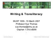 Writing and Transliteracy