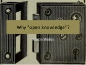Why open knowledge