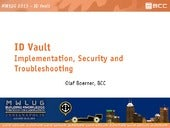 ID Vault - Implementation, Security...