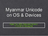 Myanmar fonts & unicode