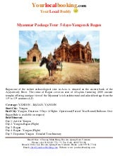 Myanmar package tour  5 days yangon...