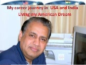 My Career Journey In USA And India