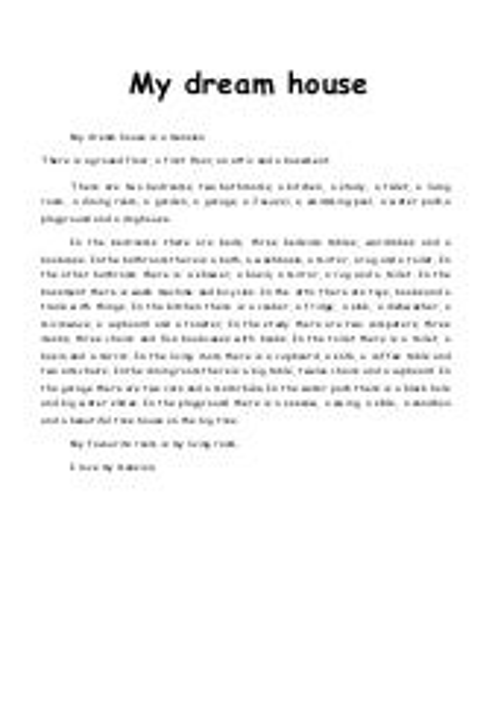 Small essay on my dream house