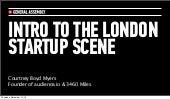 Intro to the London Startup Scene