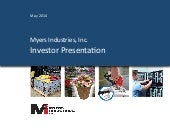 Myers Industries, Inc. video