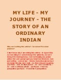 My life my journey   the story of ordinary indian