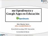 myOpenDeusto y Google Apps en Educa...