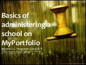 Basics of administering a school on...