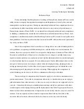 Internship reflection essay