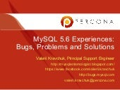 Mysql 56-experiences-bugs-solutions-50mins