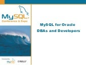MySQL For Oracle DBA's and Developers