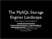 MySQL Storage Engines Landscape