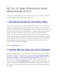 My top 10 Sales, Marketing & Social Media Articles of 2014