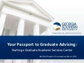 Your Passport to Graduate Advising
