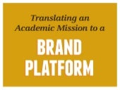 From Academic Mission to Brand Platform