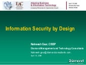 Information Security By Design